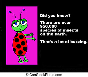 amusement, faits, insecte