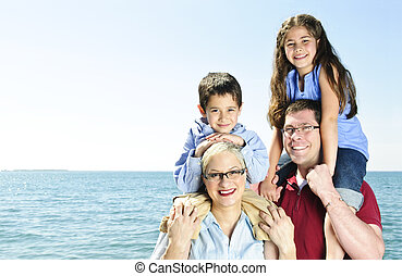 amusement, famille, heureux