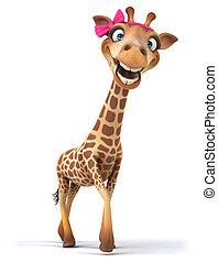 amusement, girafe