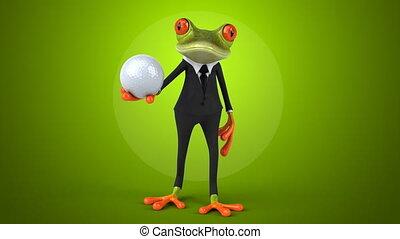 amusement, grenouille