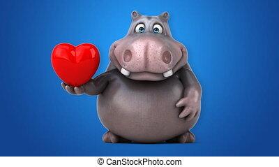 amusement, hippopotame