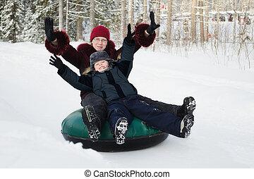 amusement, hiver