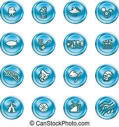 amusement, hobbies, iconen