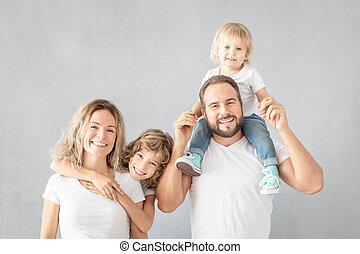 amusement, maison, parents, avoir, enfants