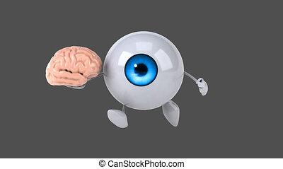 amusement, oeil, informatique, -, animation