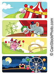 Amusement park banners - A vector illustration of amusement...