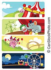 Amusement park banners - A vector illustration of amusement...