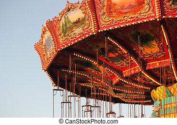 Amusement Park - Carnival ride at amusement park