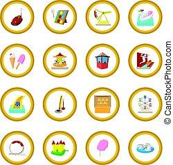 Amusement park cartoon icon circle