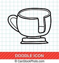 amusement park coffee-cup doodle