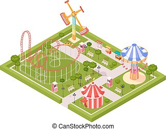 Amusement Park Design Composition - Amusement park design...