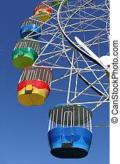 Amusement Park Ferris Wheel - A vibrant coloured ferris ...