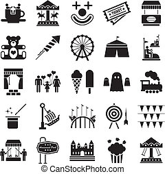 Icons related to amusement parks