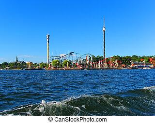 Amusement park in Stockholm, Sweden