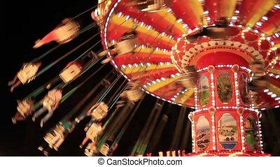amusement park light and swing