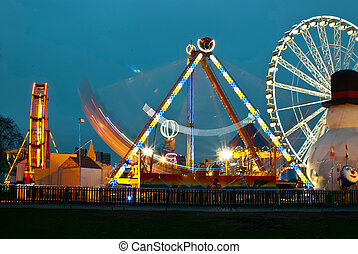 Amusement park - long exposure pictures of amusement park...