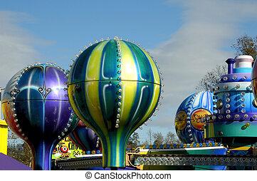 Amusement Park on a beautiful sunny day