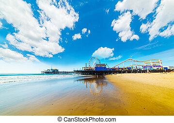 Amusement park on Santa Monica pier