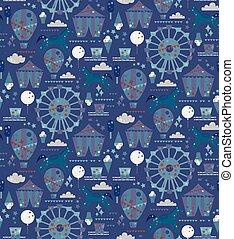 Amusement park pattern cartoon design for children