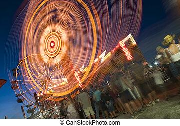 Amusement Park - People wating in line at the amusement park...