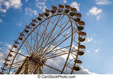 Amusement Park Ride in summer