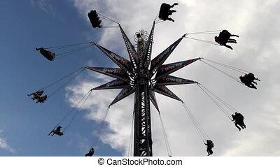 Amusement Park ride - Swing style ride at a Funfair