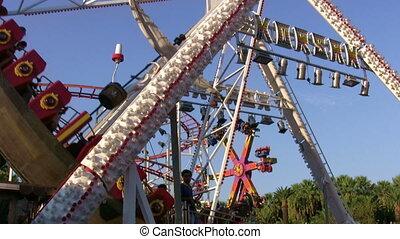 Amusement park rider