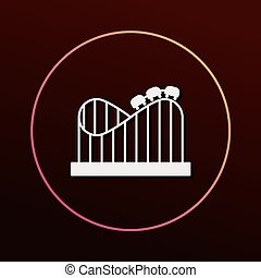 amusement park roller coaster icon