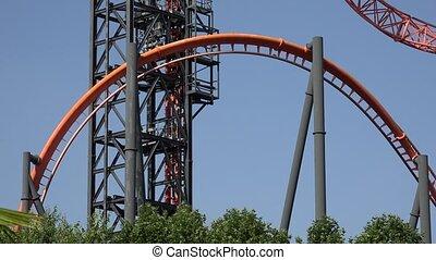 Amusement Park Roller Coaster