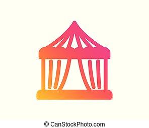 Amusement park tent icon. Circus sign. Vector