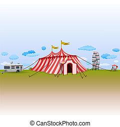 Amusement Park with Circus