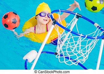 amusement, piscine, temps