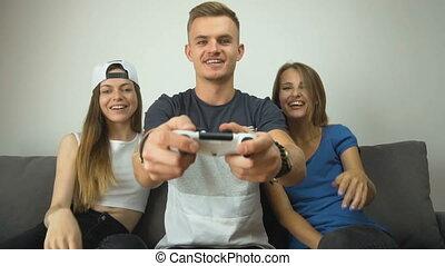 amusement, videogames, adolescents, avoir