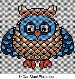 Amusing cartoon owl