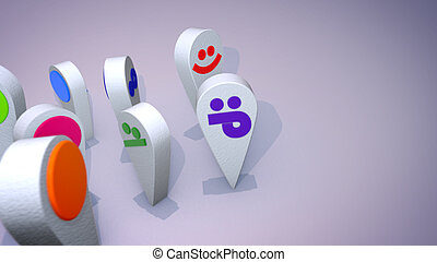 Amusing Emoticon Symbols Dance Together
