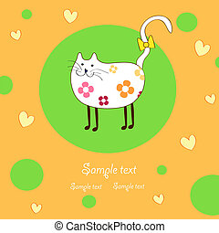 amusing lady-cat