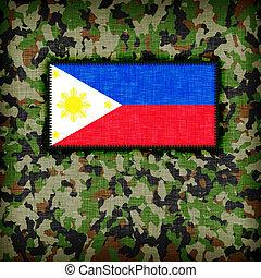 amy, camuflaje, uniforme, phillipines