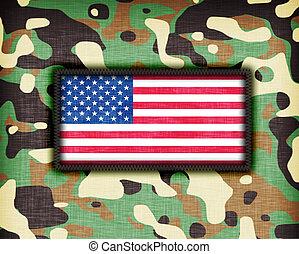 amy, uniforme, camuflagem, eua
