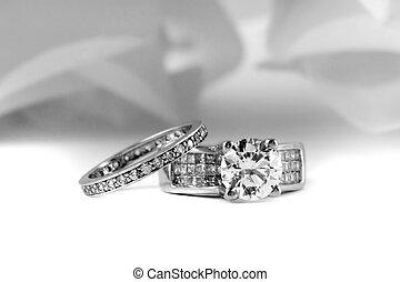 anéis acoplamento, casório