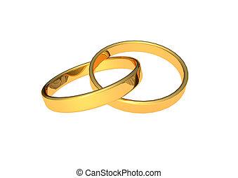 anéis, casório
