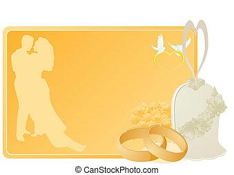 anéis casamento, sinos