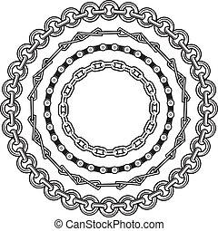 anéis, corrente