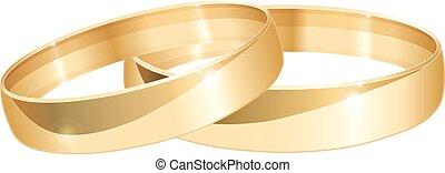 anéis, ouro, casório
