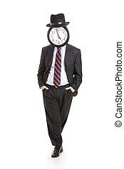 anônimo, homem negócios, -, relaxado