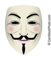 anônimo, rosto