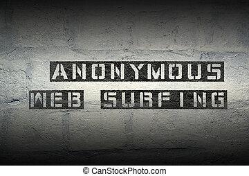 anônimo, surfe web