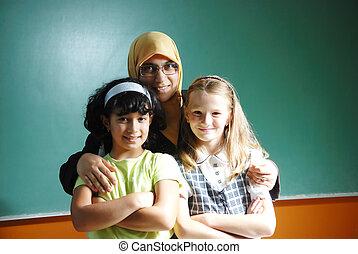 An a teacher muslim woman