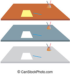 desk - An a vector illustration of desk . Files included:...