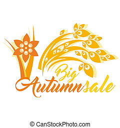 Big Autumn Sale - An abstract Autumn theme mnemonic with the...