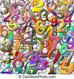 Numbers - An Abstract Background with Lots of Numbers